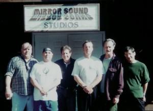 Recording session at legendary Mirror Sound Studios