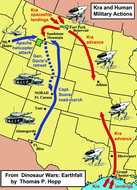 Dinosaur Wars battle map