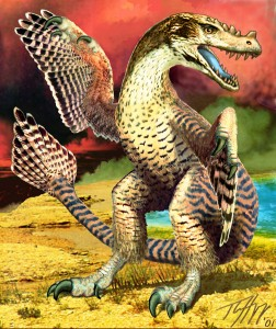 Hopp's feathered Utahraptor