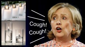 It's candle smoke allergy, Hillary