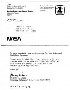 NASA receipt